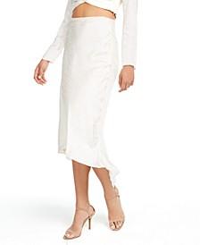 Evolette Bias-Cut Midi Skirt