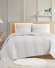 Farmhouse Stripe 3-Piece Full/Queen Quilt Set