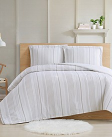 Farmhouse Stripe 3-Piece King Comforter Set