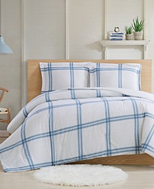 Farmhouse Plaid 3-Piece King Comforter Set