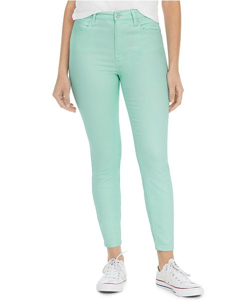 Celebrity Pink Juniors' Colored High-Rise Skinny Ankle Jeans