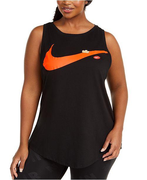 Nike Plus Size Logo Print Tank Top
