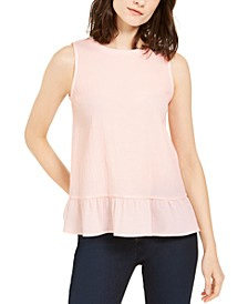 Flounce-Hem Sleeveless Top, Regular & Petite