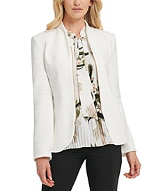 Zippered Ring-Pull Blazer