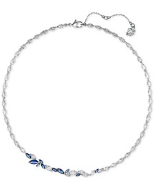 "Silver-Tone Crystal Leaf Collar Necklace, 14-7/8"" + 2"" extender"
