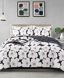 Printed Reversible Down Alternative Year Round 3-Piece Comforter Set, Full/Queen