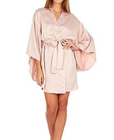 April Charmeuse Kimono Robe