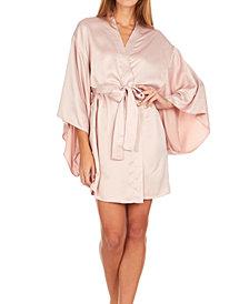 Flora Nikrooz Collections April Charmeuse Kimono Robe