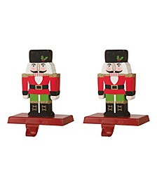 Nutcracker Stocking Holder 2 Piece