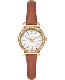 Women's Petite Sofie Luggage Leather Strap Watch 26mm