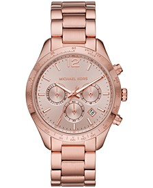 Women's Chronograph Layton Rose Gold-Tone Stainless Steel Bracelet Watch 42mm