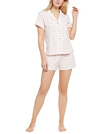 Printed Shirt & Shorts Pajama Set