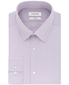 Calvin Klein Men's STEEL+ Slim-Fit Non-Iron Performance Stretch Micro Check Dress Shirt