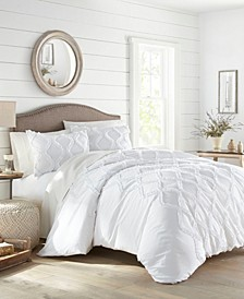 Anne Ruffle Ogee Full/Queen Duvet Cover Set