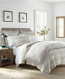 Earl Grey Check King Quilt Set