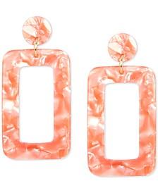 Gold-Tone Acetate Cutout Drop Earrings