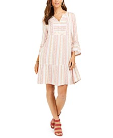 Printed Bell-Sleeve Dress, Created For Macy's