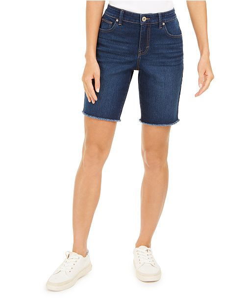Style & Co Raw-Edge Bermuda Shorts, Created for Macy's
