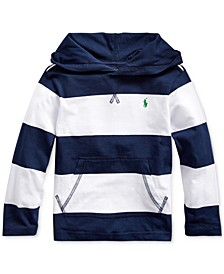 Little Boys Striped Cotton Hooded T-Shirt