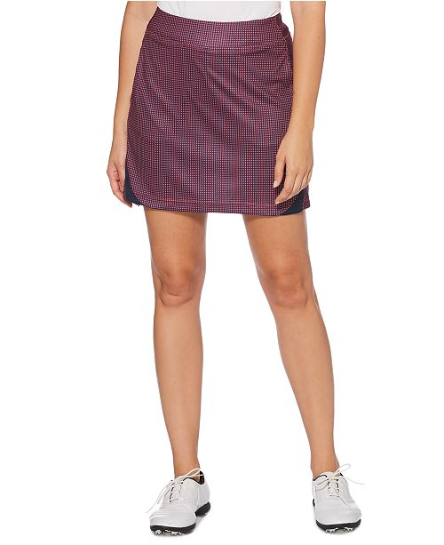 PGA TOUR Grid-Print Golf Skort