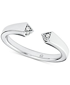 Sterling Silver Cubic Zirconia Open Ring