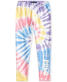 Little Girls Tie-Dye Stretch Jersey Leggings