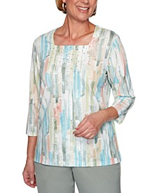 Chesapeake Bay Printed Knit Top