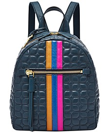 Megan Leather Stripe Backpack