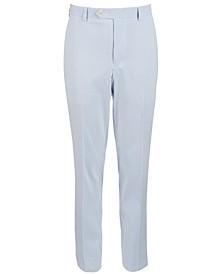 Big Boys Classic-Fit Blue/White Stripe Seersucker Suit Pants