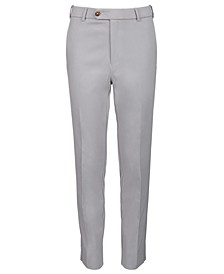 Big Boys Classic-Fit Stetch Light Gray Solid Dress Pants