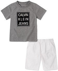 Toddler Boys 2-Pc. Logo T-Shirt & Twill Shorts Set
