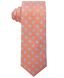 로렌 랄프로렌 보이즈 넥타이 Lauren Ralph Lauren Big Boys Orange Mini-Pine Silk Tie,Orange