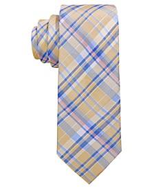 Big Boys Yellow Madras Plaid Silk Tie