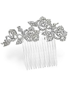 Silver-Tone Crystal Flower Hair Comb, Created for Macy's