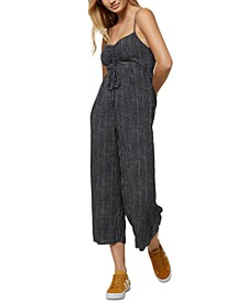 Juniors' Cropped Jumpsuit