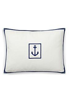 Evan Anchor Throw Pillow