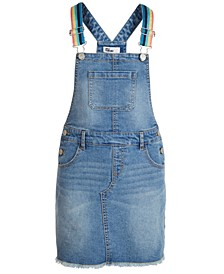 Big Girls Rainbow-Strap Denim Skirtall, Created for Macy's