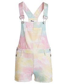Big Girls Tie-Dye Shortalls, Created for Macy's
