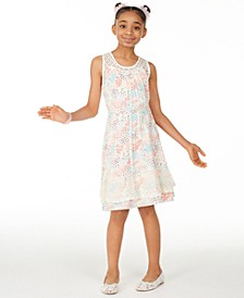 Big Girls Ditsy Printed Challis Dress, Created For Macy's