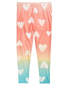 Big Girls Ombré Heart-Print Leggings, Created for Macy's