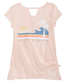 Big Girls Side Tie Dreamer T-Shirt, Created for Macy's