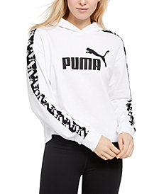 Puma Women's Amplified Cropped Logo Hoodie