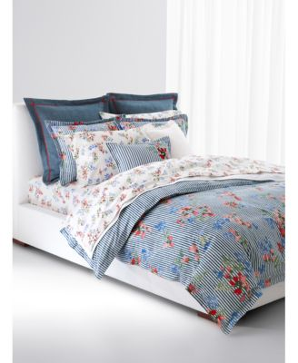 Maggie Floral Stripe Full/Queen Comforter Set