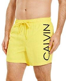 "Men's Euro Volley Logo 16 3/4"" Swim Trunks"