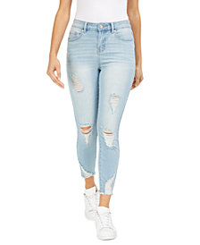 Indigo Rein Juniors' Ripped High Rise Skinny Jeans
