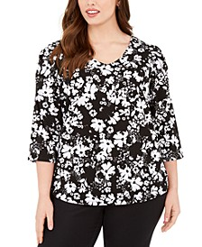 Plus Size 3/4-Sleeve Top