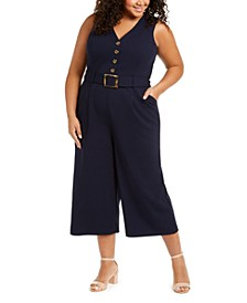 Plus Size Cropped Jumpsuit