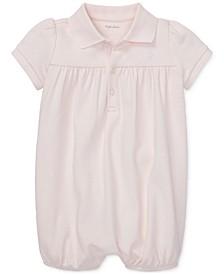 Baby Girls Interlock Bubble Cotton Shortall