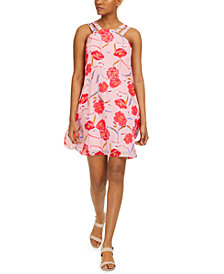 Bar III Printed Trapeze Dress, Created for Macy's
