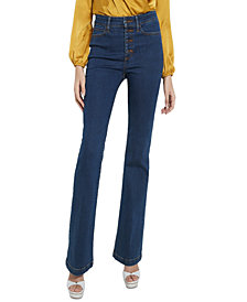 GUESS ECO 1981 Button-Fly Flare-Leg Jeans